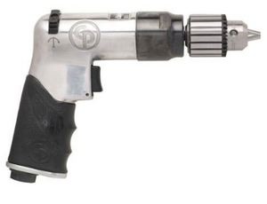 "Super Duty Reversible Air Drill Part #: CP-789R26  Chuck: 3/8""  Free Speed: 2400 RPM  Length: 7"" dBA: 106"