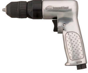 "Heavy Duty Reversible Air Drill with Keyless Chuck Part #: IR-7802RAKC  Chuck: 3/8""   HP: 1/2  Free Speed: 2000 RPM  Length: 6.89""  Weight: 2.99 lbs  dBA: 94"