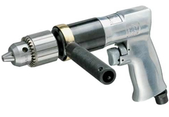 "Standard Duty Reversible Air Drill with Standard Chuck Part #: IR-7803RA  Chuck: 1/2""   HP: 1/2  Free Speed: 500 RPM  Length: 7.09"" dBA: 94"
