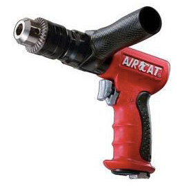 "Reversible Composite Air Drills Part #: ACA-4450  Chuck: 1/2"" Keyed  Motor: 5/8 HP  Free Speed: 400 RPM  dBA: 85"