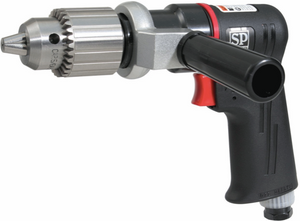 "Composite Reversible Air Drill Part #: SPA-SP 7527 Chuck: 1/2""  Free Speed: 400 RPM dBA: 86.8"