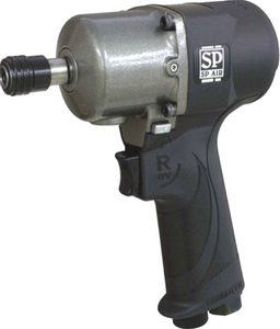 "Reversible Lightweight Impact Driver with Double Hammer Clutch Part #: SPA-SP 7146H  Chuck: 1/4"" Hex  Max. Torque: 100 ft-lbs  Free Speed: 8500 RPM  Length: 5.3"" dBA: 92"