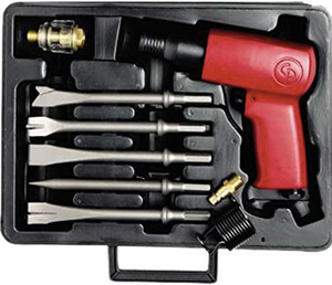 Heavy Duty Air Hammer Kit 4 chisels Part #: CP-7150K  Shank: .401  BPM: 2300  dBA: 100