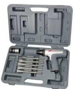 Vibration Reduced Air Hammer Kit Part #: IR-122MAXK  Shank: .401  Barrel: Short  BPM: 3500  Chisels: 5  dBA: 94.7