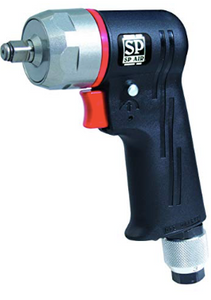 "1/4"" Drive Mini Impact Wrench Part #: SPA-SP 7825S  Length: 4-5/16""  Max. Torque: 94 ft-lbs  17,000 RPM  84.2 dBA"