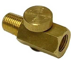 "All Brass Air Regulator Part #: AST-5706 1/4"" M x 1/4"" F NPT"