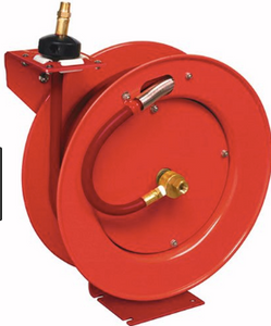 "Value Series Retractable Air Hose Reel Part #: LIN-83753  3/8"" X 50' Hose  1/4"" NPT  300 PSI  25 CFM"