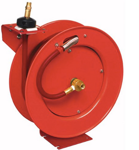 "Value Series Retractable Air Hose Reel Part #: LIN-83754  1/2"" X 50' Hose  1/2"" NPT  300 PSI  35 CFM"