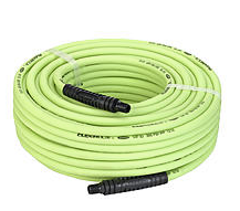 "Flexzilla Air Hose Part #: LEG-HFZ14100YW2 Hose Size x Length: 1/4"" x 100' Working Pressure: 300 PSI  NPT: 1/4"""