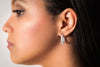 Kensington Mini, sterling silver, baguette Swarovski crystal hoop earrings
