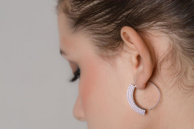 Menton Slide Hoop Earrings