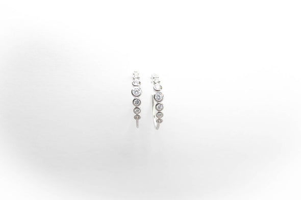 Mayfair small hoop earrings, sterling silver with Swarovski crystals
