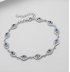 Harrow, sterling silver, Swarovski crystal evil eye bracelet