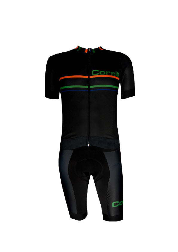 Corelli Black Bibshorts