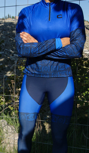 Blue Running Tights