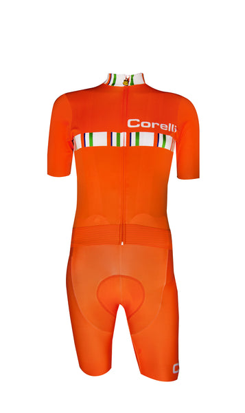Corelli Orange Bibshorts