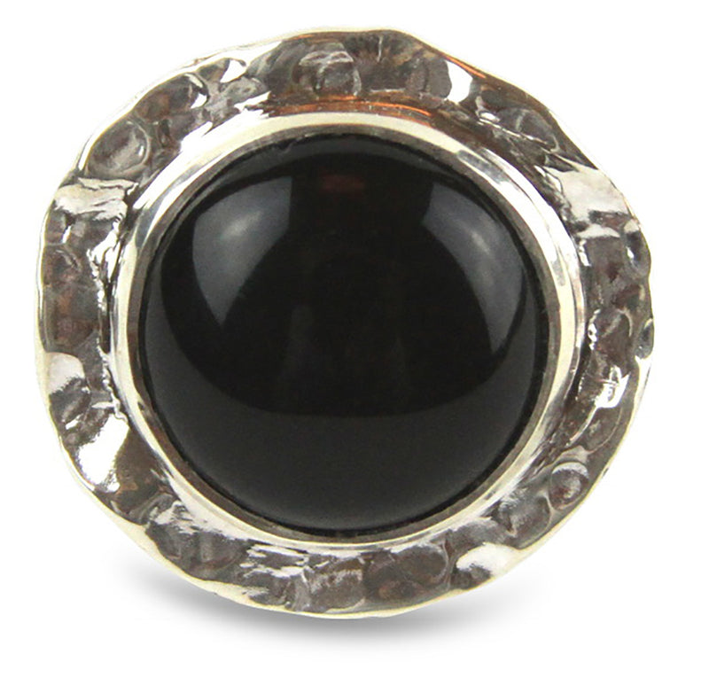Textured Onyx Cabochon Ring - Tocci Designs