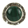 Textured Malachite Cabochon Ring - Tocci Designs