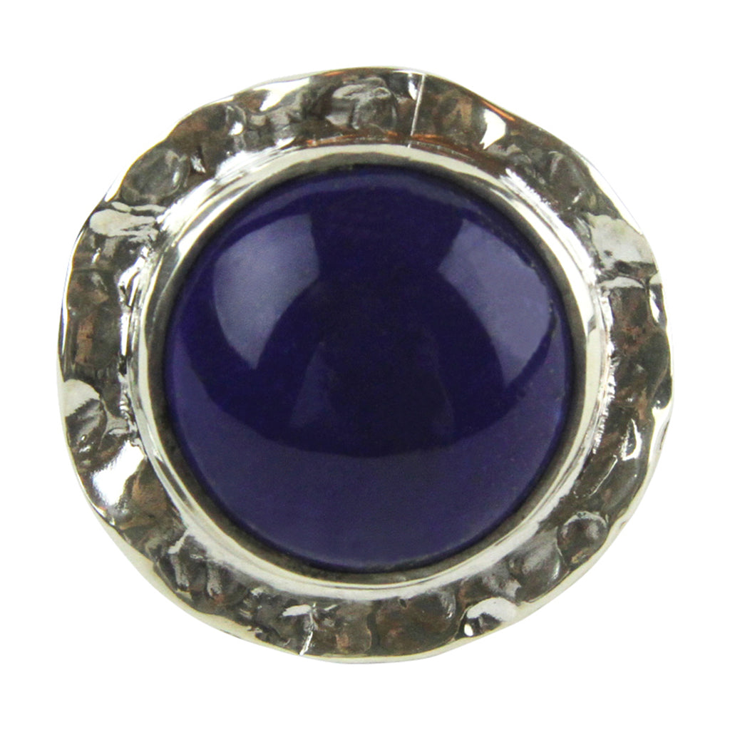 Textured Lapis Cabochon Ring - Tocci Designs
