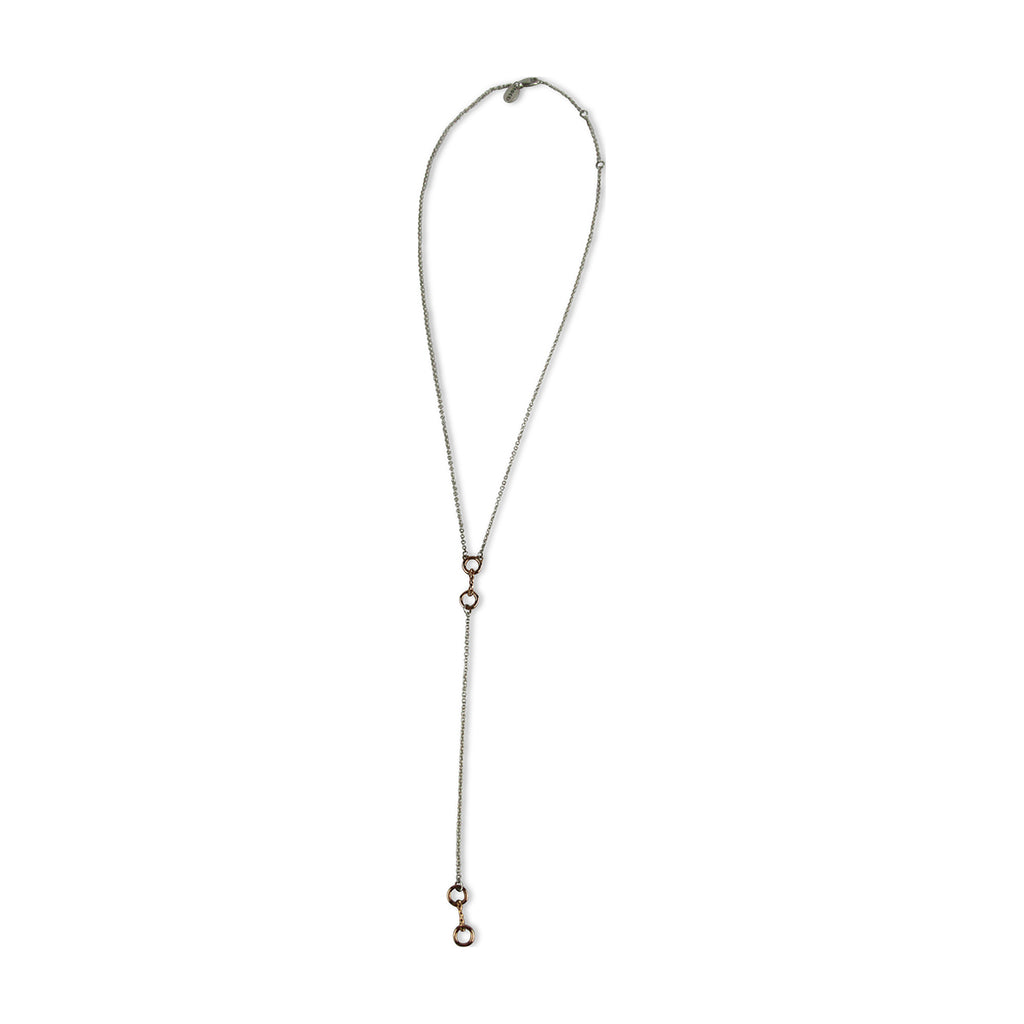 Dainty Lariat Bit Necklace - Tocci Designs