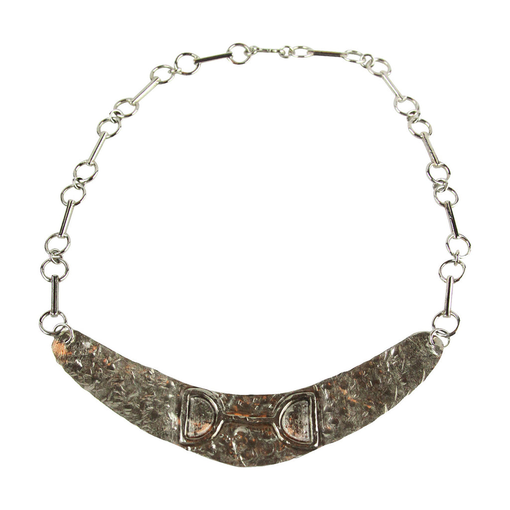 Disk Hammered Bit Necklace - Tocci Designs