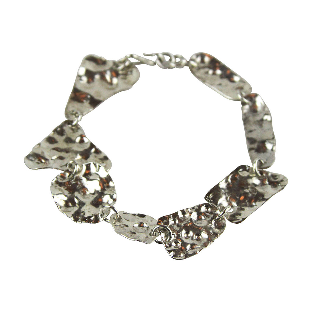 Asymmetrical Hammered Bracelet - Tocci Designs