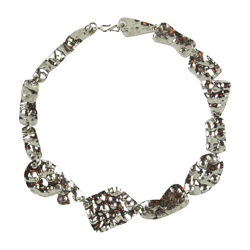 Asymmetrical Hammered Necklace - Tocci Designs