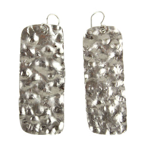 Hammered Rectangle Earrings - Tocci Designs