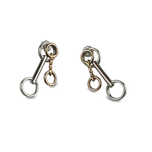 Double Horse Bit Earrings - Tocci Designs