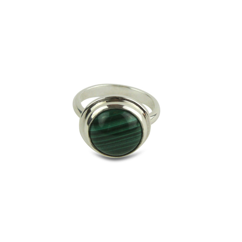 Malachite Cabochon Ring - Tocci Designs