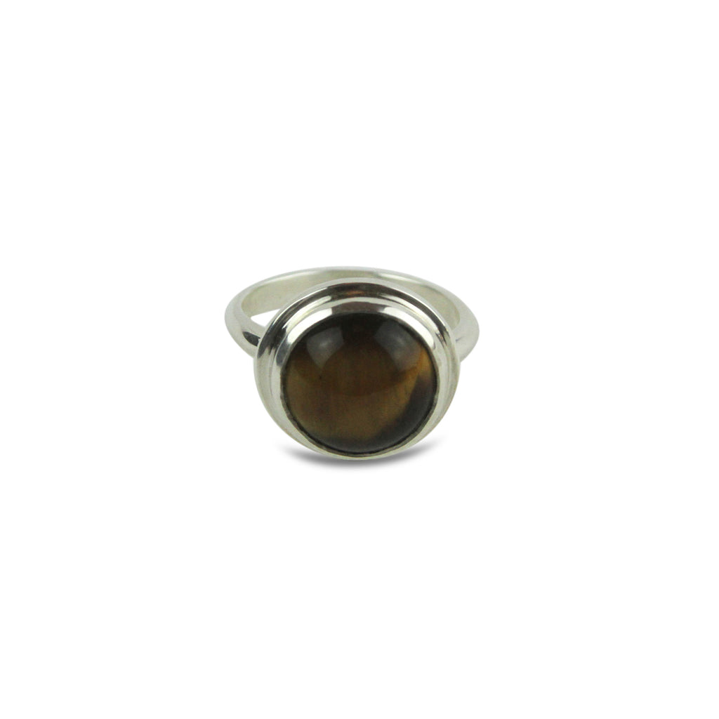 Tiger Eye Cabochon Ring - Tocci Designs