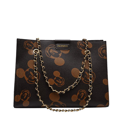 Mickey Mouse Large Capacity Chic Leather Handbag