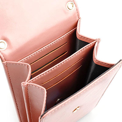 Women Vintage Solid Waterproof Bags Multi-card Position Magnetic Snap Crossbody Bag