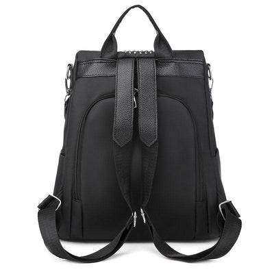 Women's Classic Solid Waterproof Oxford Bag Anti-theft Multifunctional Large Capacity Multi-pocket Zipper Backpack