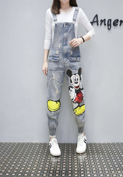 Fashion Cute Mickey Mouse Cotton Overalls -  - ustreetstyle