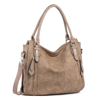 Fashion Zipper Tote Shoulder Bag - Handbag - ustreetstyle