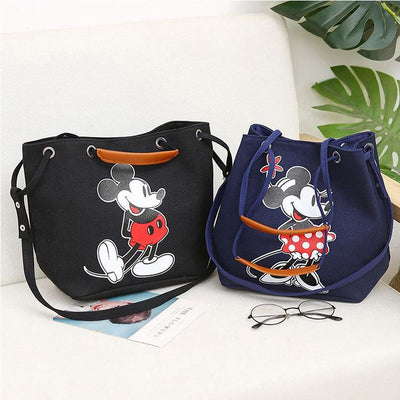 Mickey & Minnie Print Large Capacity High Quality Shoulder Bag - Handbag - ustreetstyle