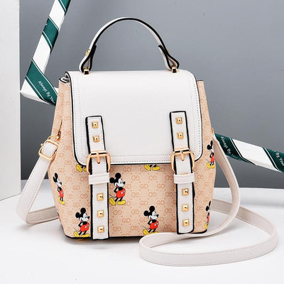 2020 Mickey Mouse Leather Backpack For Girls