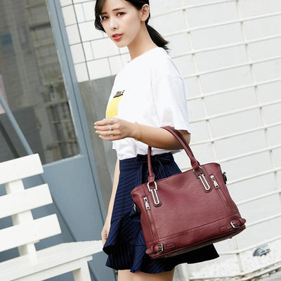 Patchwork Capacity Shoulder Bag - Handbag - ustreetstyle
