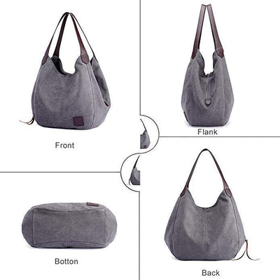 Canvas Vintage Female Shoulder Bag - handbags - ustreetstyle