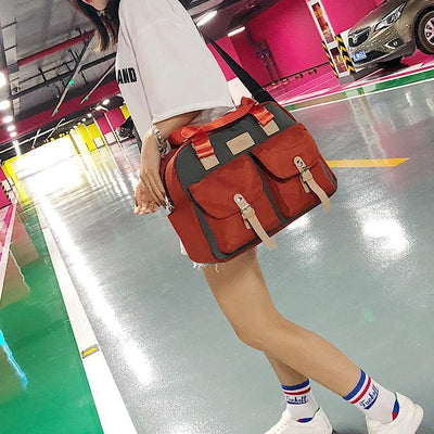 Double Zipper Messenger Bags - Crossbody Bag - ustreetstyle