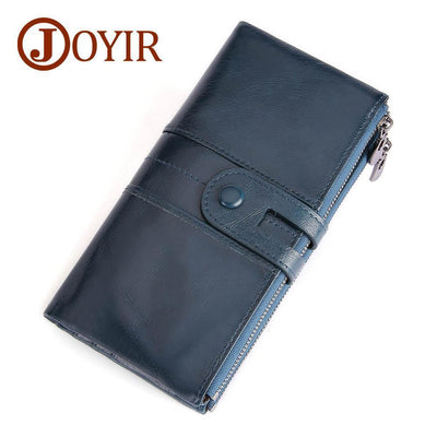 Genuine Leather Long Wallet - Wallets - ustreetstyle