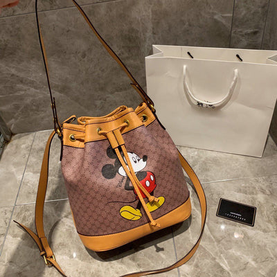Mickey Leather Bucket Bag *Limited Edition -  - ustreetstyle