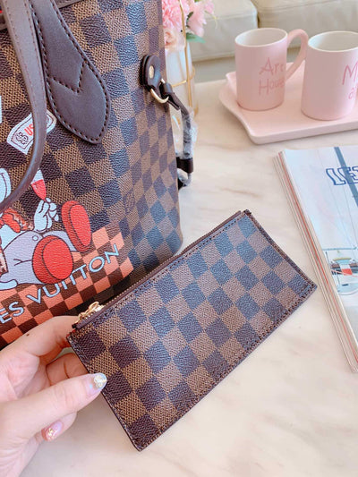 2Pcs Poker Mickey Leather Bag Sets *Limited Edition -  - ustreetstyle