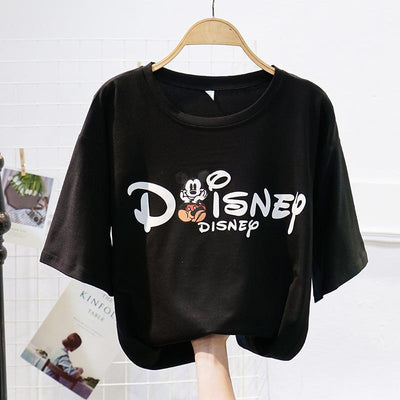 Cartoon printed letter Mickey Mouse T-shirt - Shirt - ustreetstyle