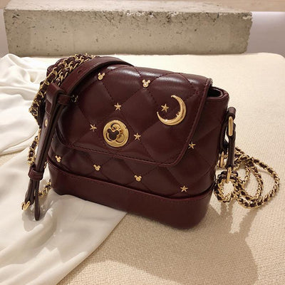 Mickey Mouse Fashion Leather Crossbody Bag