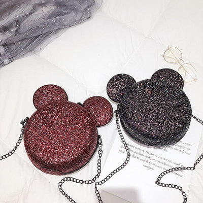 Fashion Glitter Mickey Shoulder Bag - Handbag - ustreetstyle