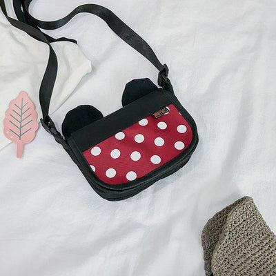Summer Travel Mickey & Minnie Ear Crossbody Bag