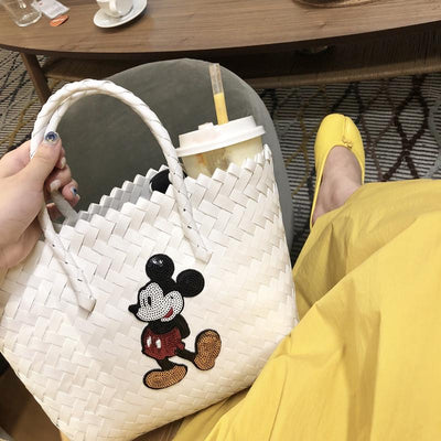 Mickey Classic Style Knitted Shoulder Bag - Handbag - ustreetstyle