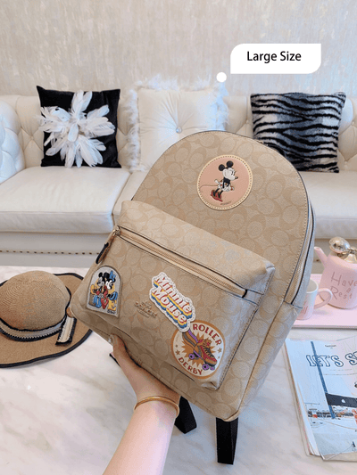 Mickey Style Classic Leather Large Size Backpack *Limited Edition -  - ustreetstyle
